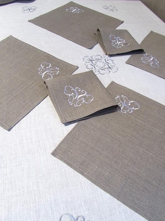 Текстиль, ковры ручной работы. Ярмарка Мастеров - ручная работа. Купить Комплект столового белья. Арт. 219-1. Handmade.