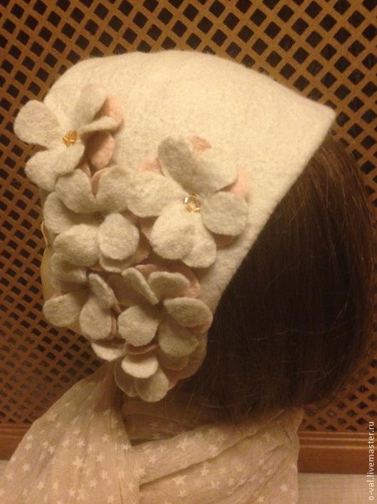 Шляпы ручной работы. Ярмарка Мастеров - ручная работа. Купить ВАНИЛЬНОЕ НАСТРОЕНИЕ. Handmade. Бежевый, шляпка с цветком