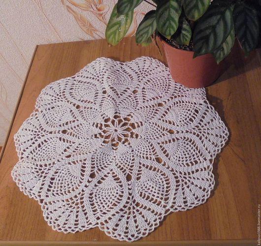 Текстиль, ковры ручной работы. Ярмарка Мастеров - ручная работа. Купить модель №1. Handmade. Белый, салфетка крючком