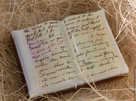 """Мыло ручной работы. Ярмарка Мастеров - ручная работа. Купить Мыло """"Книга"""". Handmade. Книга, мыльная основа sls free"""