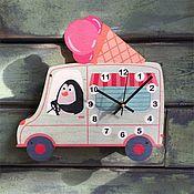 Для дома и интерьера ручной работы. Ярмарка Мастеров - ручная работа Детские настенные часы Машинка с мороженным. Handmade.