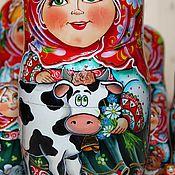 Русский стиль ручной работы. Ярмарка Мастеров - ручная работа Деревенька (10 мест). Handmade.