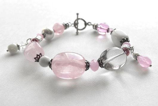 """Браслеты ручной работы. Ярмарка Мастеров - ручная работа. Купить Браслет """"Tender Pink"""". Handmade. Розовый, розовый браслет, подарок"""