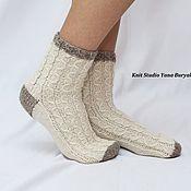 Аксессуары ручной работы. Ярмарка Мастеров - ручная работа Шерстяные женские носки. Handmade.