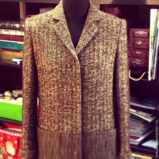 """Верхняя одежда ручной работы. Ярмарка Мастеров - ручная работа. Купить Пальто """"Твидовое"""". Handmade. Коричневый, шерсть 100%, лемакс"""