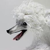 """Куклы и игрушки ручной работы. Ярмарка Мастеров - ручная работа фигурка """"Белый пудель"""" (статуэтка белого пуделя, собака породы пудель). Handmade."""