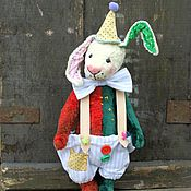 Куклы и игрушки ручной работы. Ярмарка Мастеров - ручная работа Заяц тедди Узелок. Handmade.