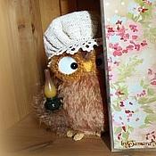 Куклы и игрушки ручной работы. Ярмарка Мастеров - ручная работа Ночная сова Боннетта - вязаная интерьерная игрушка. Handmade.