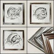 Картины и панно ручной работы. Ярмарка Мастеров - ручная работа Рыбки с характером. Handmade.