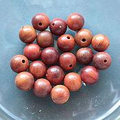 handmade. Livemaster - original item Padauk beads Africa valuable wood ball 12mm. Handmade.
