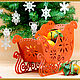 New year's sleigh ' Snowflakes', Blanks for decoupage and painting, Kotlas,  Фото №1