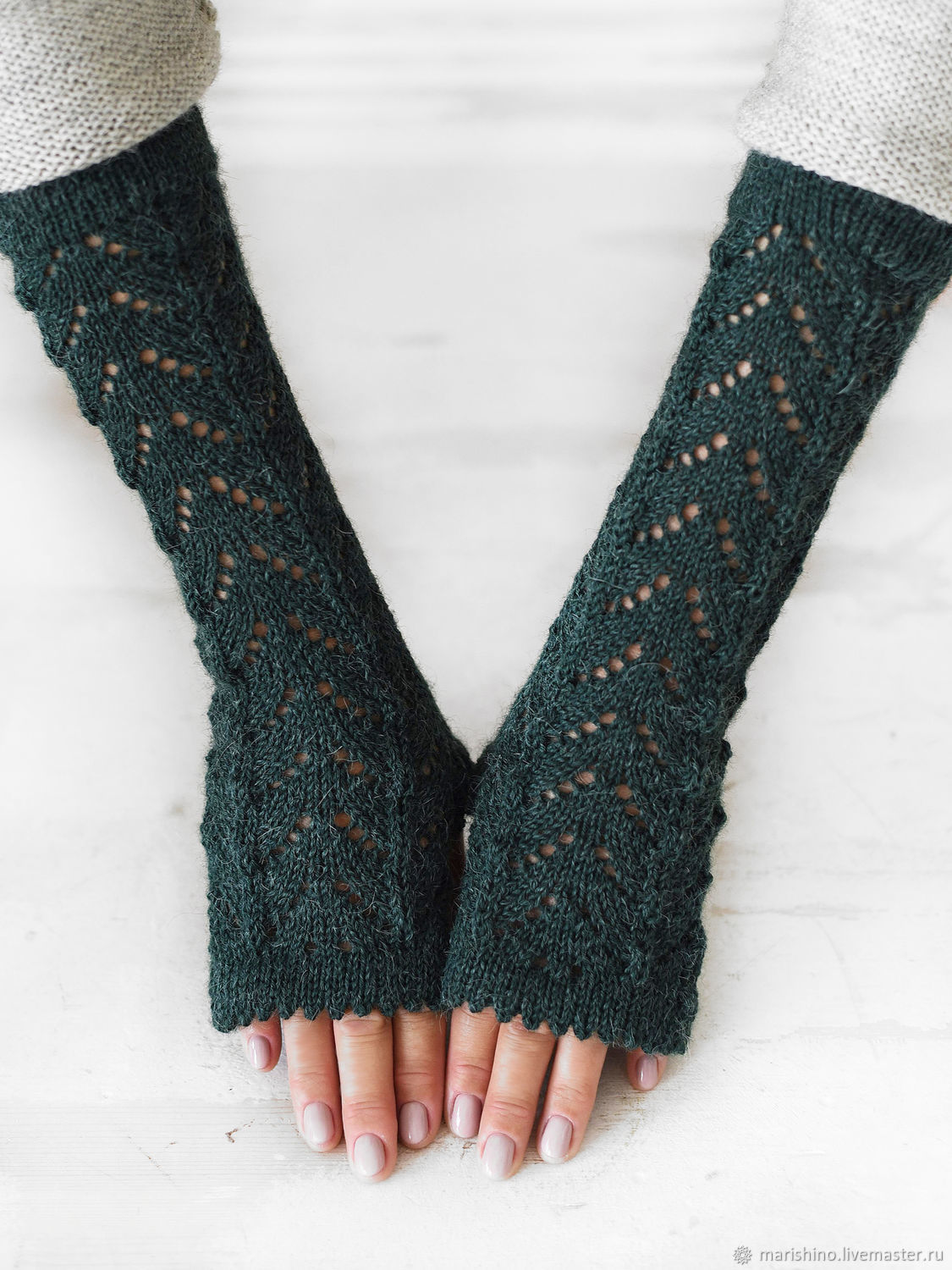 Mitts extra long 'Spring willow', Mitts, Chelyabinsk,  Фото №1