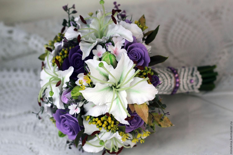 Букеты на свадьбу с лилиями фото