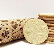 Посуда handmade. Livemaster - original item Rolling pin with a pattern of Bees. Handmade.
