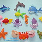 """Куклы и игрушки ручной работы. Ярмарка Мастеров - ручная работа Набор игрушек """"Подводный мир"""". Handmade."""