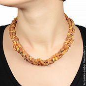 Украшения handmade. Livemaster - original item Beads amber Trio treatment natural stones, raw amber. Handmade.
