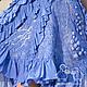 """Платья ручной работы. Заказать Нуно- платье """"Индиго"""" синий ультрамарин шелк шерсть. Валентина Костецкая (kostetska). Ярмарка Мастеров."""