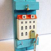 Для дома и интерьера ручной работы. Ярмарка Мастеров - ручная работа ключница бирюзовая. Handmade.