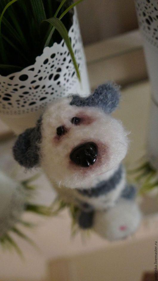 Игрушки животные, ручной работы. Ярмарка Мастеров - ручная работа. Купить Белый пёсик.Серия минипесиков. Handmade. Белый, холофайбер