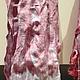 Шарфы и шарфики ручной работы. Платок Шарфик натуральный жатый шертяной 200х70 см ручной работы. Lacenews. Ярмарка Мастеров.
