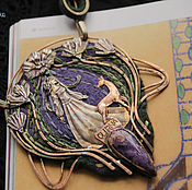 """Украшения ручной работы. Ярмарка Мастеров - ручная работа """"Lilac Lalique Echoes"""" колье-кулон. Handmade."""