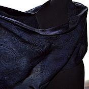 Аксессуары handmade. Livemaster - original item Scarf stole black purple Paisley jacquard women`s long. Handmade.