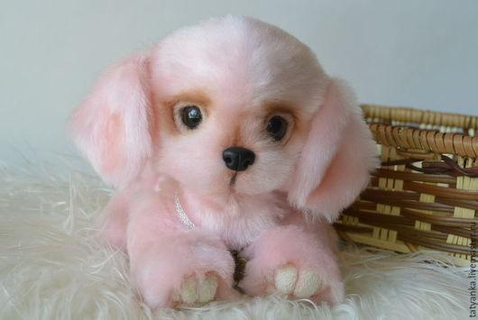 """Мишки Тедди ручной работы. Ярмарка Мастеров - ручная работа. Купить Розовый щенок-тедди """"Ягодка"""". Handmade. Щенок тедди"""