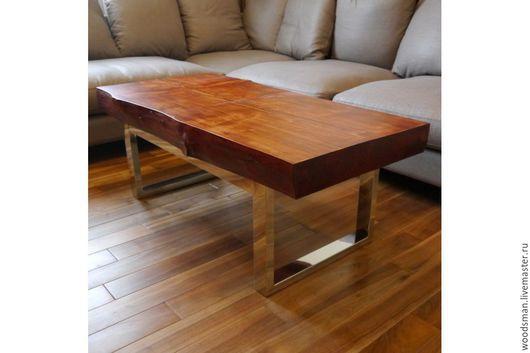 Мебель ручной работы. Ярмарка Мастеров - ручная работа. Купить Журнальный столик /Woodsman coffee table/. Handmade. Коричневый