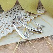 Материалы для творчества handmade. Livemaster - original item Shvenzy hooks for earrings 20x11 mm rhodium Yu. Korea (2656). Handmade.