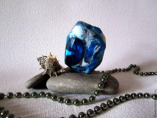 """Мыло ручной работы. Ярмарка Мастеров - ручная работа. Купить Мыло камень """"Айсберг"""", синий, море, 2016, подарок на 23 февраля. Handmade."""