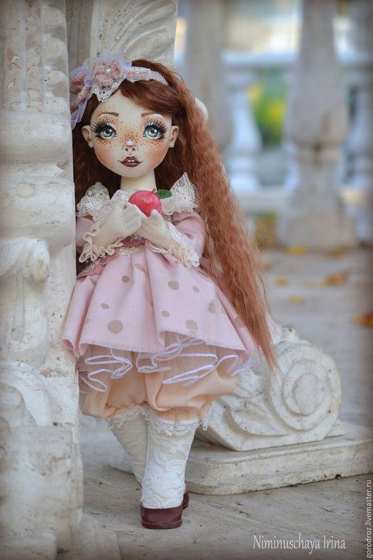 Коллекционные куклы ручной работы. Ярмарка Мастеров - ручная работа. Купить Волшебное Яблочко. Handmade. Кремовый, рыжая девочка