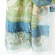 Аксессуары ручной работы. Ярмарка Мастеров - ручная работа Шелковый шарф, окрашенный вручную, Скоро весна. Handmade.