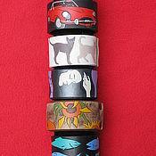 Украшения handmade. Livemaster - original item 6 leather bracelets. Handmade.