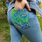 Одежда handmade. Livemaster - original item Hand painted jeans / pants pockets. Handmade.