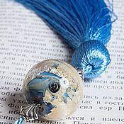 """Канцелярские товары ручной работы. Ярмарка Мастеров - ручная работа Закладка """" Космический океан """". Handmade."""
