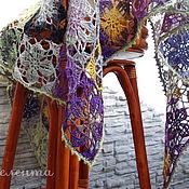 """Аксессуары ручной работы. Ярмарка Мастеров - ручная работа Шаль """"Ван Гог"""" кружево, хлопок, шерсть, шелк, мозаика. Handmade."""