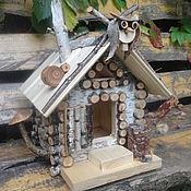 """Для дома и интерьера ручной работы. Ярмарка Мастеров - ручная работа Кормушка """" домик бабки ёжки"""". Handmade."""