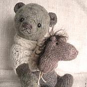 """Куклы и игрушки ручной работы. Ярмарка Мастеров - ручная работа Мишка """"Бабушкин носок"""" (правый). Handmade."""