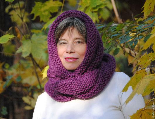 """Шали, палантины ручной работы. Ярмарка Мастеров - ручная работа. Купить Очень теплый снуд-шарф """"Кисельные берега"""" (шерсть). Handmade."""