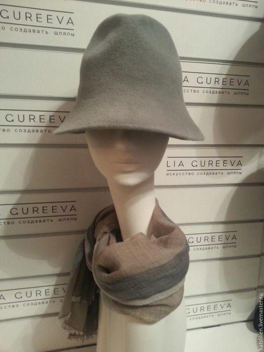 """Шляпы ручной работы. Ярмарка Мастеров - ручная работа. Купить Шляпка """"Колокольчик"""". Handmade. Серый, подарок женщине, красивый подарок"""