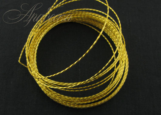 Арт-проволока медная Витая золотого цвета Artistic Wire (США)
