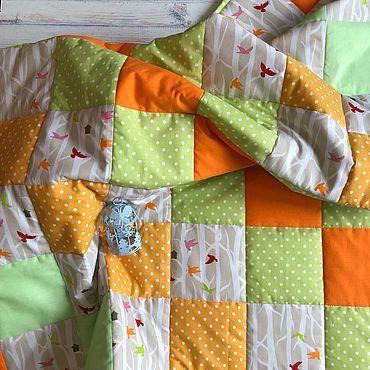 Текстиль ручной работы. Ярмарка Мастеров - ручная работа Лоскутное одеяло 120х90. Handmade.