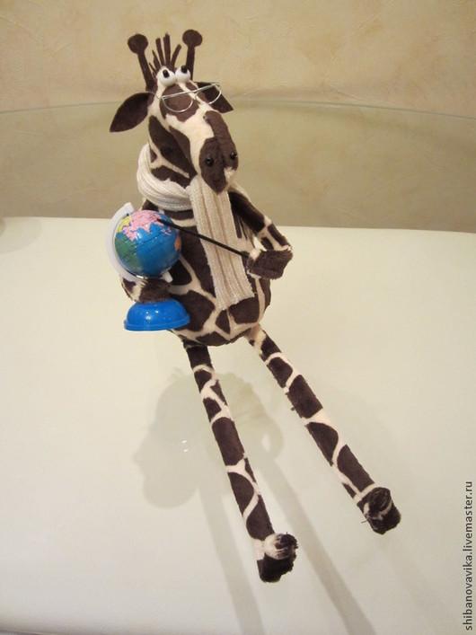Игрушки животные, ручной работы. Жираф-учитель. Автор Шибанова Виктория. Дизайн-студия авторских игрушек
