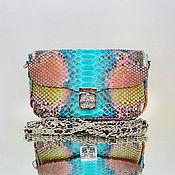 Сумки и аксессуары handmade. Livemaster - original item Rosy Python handbag. Handmade.