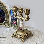 Для дома и интерьера handmade. Livemaster - original item Three-cornered candelabra. Handmade.