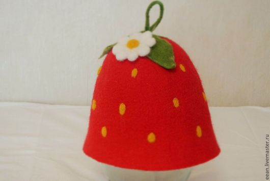 Шапки ручной работы. Ярмарка Мастеров - ручная работа. Купить Валяная банная шапочка. Handmade. Для любителя сауны
