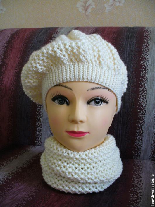 Береты ручной работы. Ярмарка Мастеров - ручная работа. Купить Берет и шарфик №1. Handmade. Берет, берет для девочки