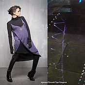 Одежда handmade. Livemaster - original item ГА_026 Tunic Night the London Eye, the color purple black,. Handmade.