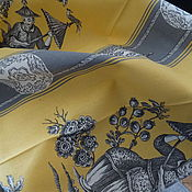 Ткань портьерная Пагода с полосой
