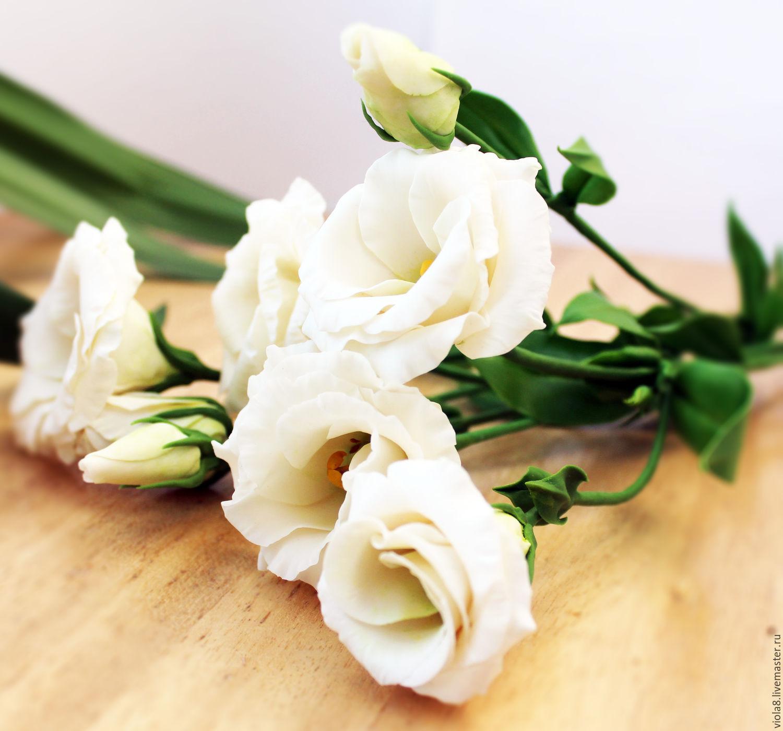 Eustomasianthusuquet Of White And Lilac Eustomapolymer Clay